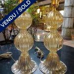 Ref : LL301  - Paire Murano signé TOSO - VENDU