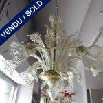 Ref : L947  - Verre de Murano- 6 lumières - VENDU