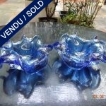 Ref AD61  - Pair of Murano signed TOSO - SOLD