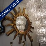 Set of sun mirror with metal surround - SOLD