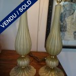 Ref : LL309  - Paire Murano signé TOSO - SOLD