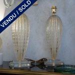 Ref : LL314  - Verre de Murano doré - VENDU