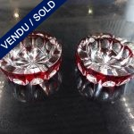 Ref AD70  - Pair of cristal ashtrays Saint-Louis 60's/70's - SOLD