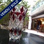 Ref : V292  - Vase en cristal Saint-Louis époque 60/70 - VENDU