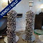 Ref : LL319 - Pair of chrome-plated brass
