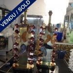 Ref : L322  - Pair of Murano and brass - SOLD