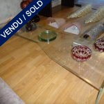 Ref : MT951 - Tiny glass table - SOLD