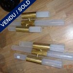 Ref : LA236 - Pair Murano and brass - SOLD