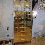 Ref :M230 - Semainier métal doré
