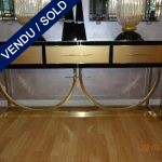 Ref : CL21  - Tinted glass - brass - SOLD