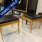 Ref : MC752  - Set of stools in iron - SOLD
