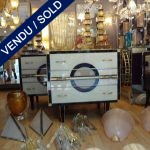 Paire de commodes miroir - SOLD