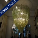 Sold - One chandelier in glass of Murano Sold - VENDU