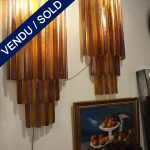 Ref : LA962  - Set of sconces in glass of Murano - SOLD