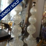 Ref : LL981  - Set of lamps Murano - SOLD