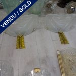 Ref : LA978 - Set of sconces - Glass of Murano - SOLD
