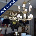 """Ref : L907  - Paire de lustres Murano 14 bras de lumières """"CENEDESE"""" - VENDU"""