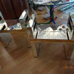 Ref : MT942 - Paire de bancs tout miroir