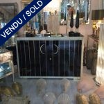 Ref : M233 - Pair of black tinted glass and ivory buffets - SOLD