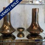 Ref : V316 - Paire en verre de Murano signée Donghia - VENDU