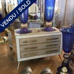Ref : M236  - Pair of commode - tinted glass - SOLD