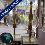 Ref :LL338  - Pair Murano and brass - SOLD