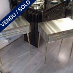Ref : M243  - Set of 2 mirror Bedsides - SOLD