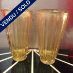 "Ref : V318 - Pair of vases in glass of Murano signed ""Toso"""