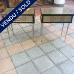 Ref : M246  - Paire de chevets en verre teinté - VENDU