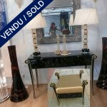 Lacquered and gilded dressing table 1930's with mirrors - SOLD