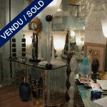 Floor lamp of Murano, black spheres - SOLD
