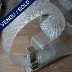 6 appliques Murano blanc - VENDU