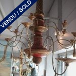 Chandelier in painted wood, end of XIXth - SOLD