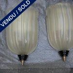 Appliques en verre de Murano doré - VENDU
