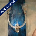 Sconces in glass of Murano - SOLD