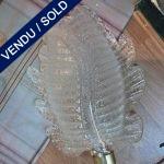 4 appliques en verre de Murano granité - VENDU