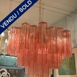 Lustre verre de Murano 48 tubes - VENDU