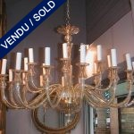 Gilded chandelier with 24 lights - SOLD