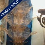 Appliques verre de Murano doré - VENDU
