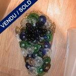 Sconces in multicolored glass of Murano - SOLD