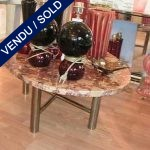 Oval coffe table with top in marble - SOLD