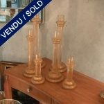 Candlesticks in gilded glass of Murano - SOLD