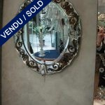 "Mirror with graven pieces (""églomisé"" in French) 1940's - SOLD"