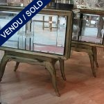 Night tables, 2 gates in mirrors - SOLD