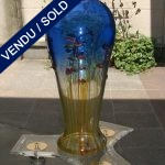 Blue vase signed by Franco MORETTI - SOLD