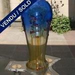 Vase bleu Franco MORETTI - VENDU