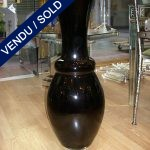 Grand vase verre de Murano noir - VENDU