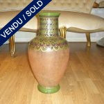 "Vase signed by ""AMR VIDEA 1182"", painted by hand, Italia - SOLD"