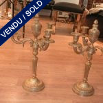 Set of candelabras in gilded bronze - SOLD