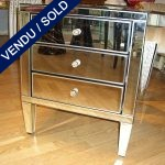 A set of nightstands, 3 drawers in mirrors - SOLD